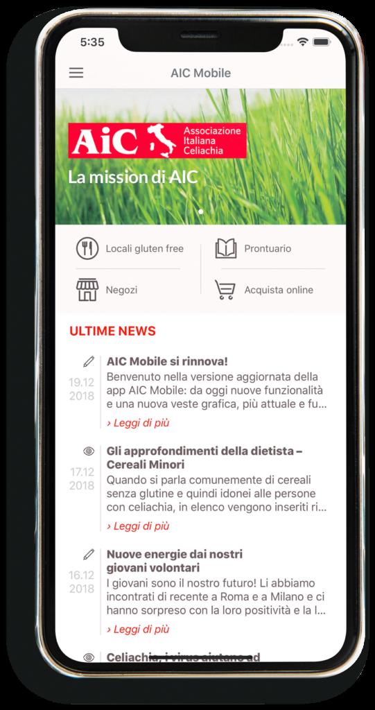 gluten free italy - AIC app